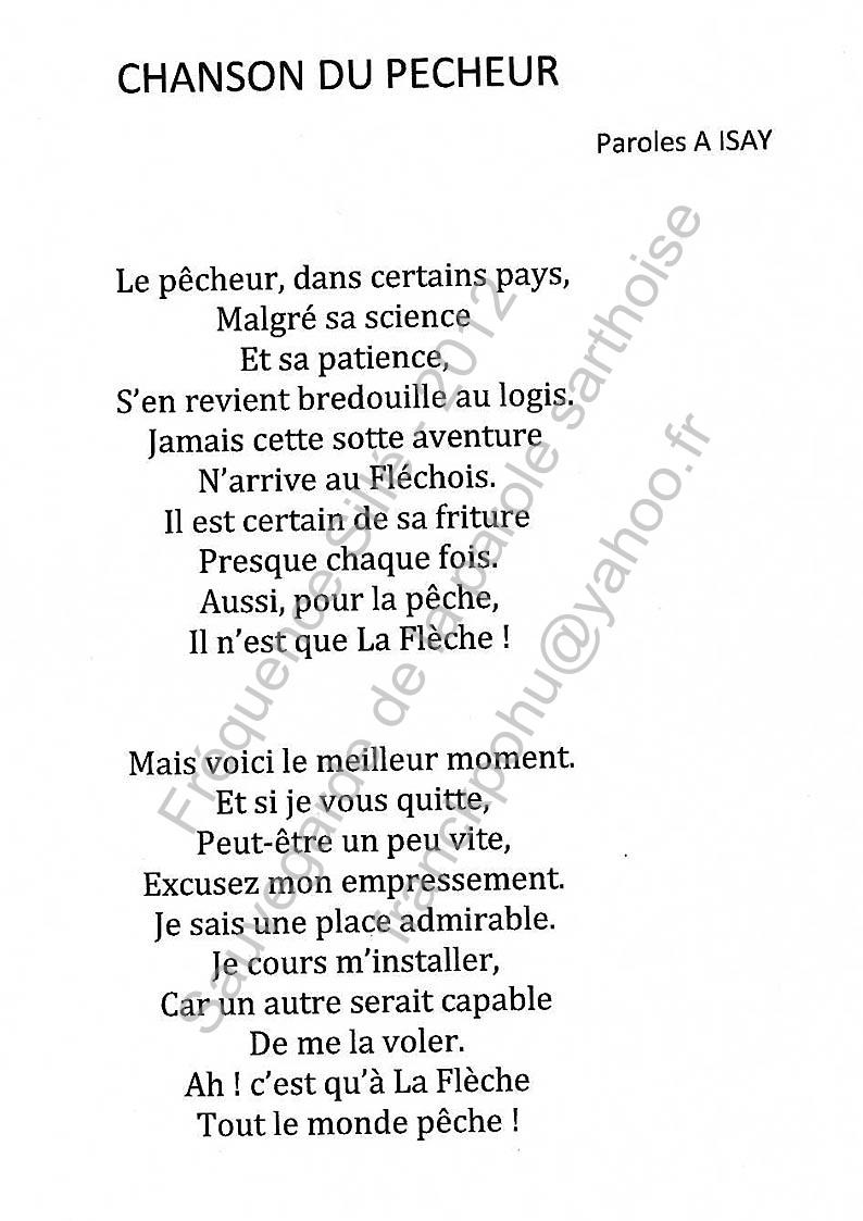 Chanson du pêcheur », paroles d'Albert Lazard Izay, musique de ...